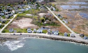 Topsail Homes Aerial View