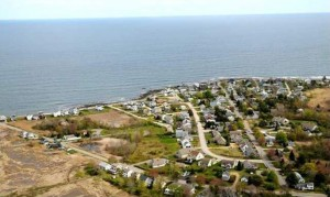 Topsail Homes Aerial Ocean View