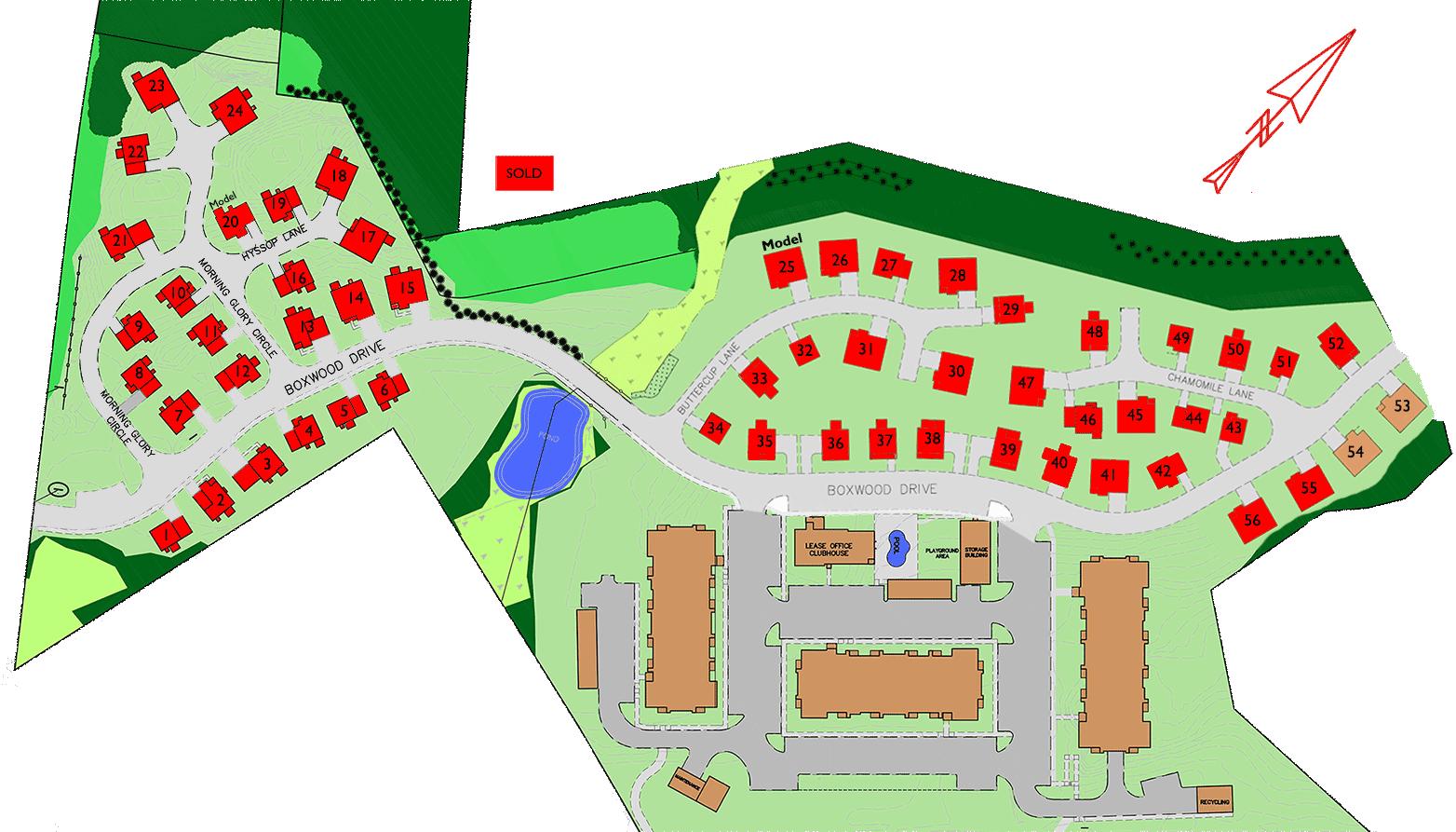 Wildflower Meadow Site Plan